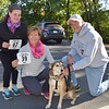 Mark & Kathy with their daughter Tina and pup, Rudy participated as walkers in Firkin 1 mile walk on Saturday. photo by Debby High for The Reporter