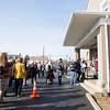 Community members line up to attend the memorial service for 14-year-old Grace Packer at the New Life Presbyterian Church in Glenside on Jan. 16.  The memorial service was planned by five Abington women who have children in the same school that Grace attended. The service was funded by a gofundme page that Andrea Adams, one of the mothers, set up. Rachel Wisniewski — For Digital First Media