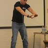 Author, motivational speaker and performing strongman, Eric Moss, visits students at North Montco Technical Career Center in Lansdale October 11, 2016. Gene Walsh — Digital First Media