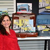Artist Emily Smith displays her Perkasie Pop Art pieces during the Pop Up Shop, a collaborative pop-up retail effort highlighting local artists and vendors, at Per Diem in Perkasie Saturday, Feb. 18.  Debby High — For Digital First Media