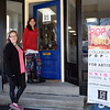 Sara Jozwik, left, and Emily Smith opens the door for the Pop Up Shop at Per Diem in Perkasie Saturday, Feb. 18.  Debby High — For Digital First Media