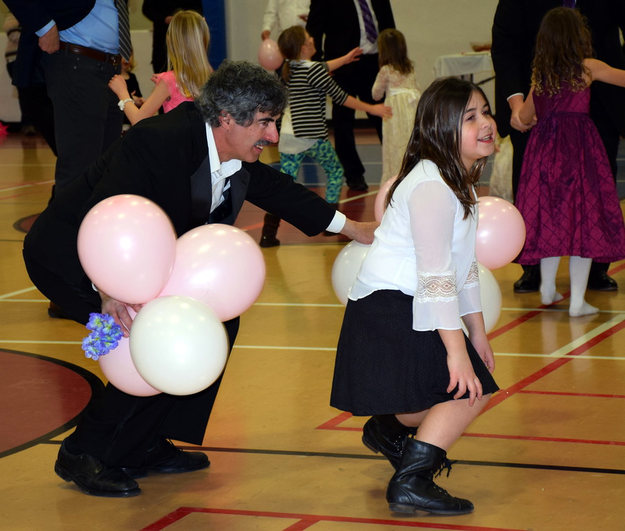 . Some of the daddy\'s got down and danced with their girls at Indian Valley YMCA\'s Daddy, Daughter Dance. Debby High for Digital First Media  Debby High � For Digital First Media