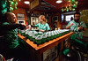 """Mike Fernandez, left, Kelley Nelson and Bob McDonald, Jr. prepare """"the toast"""" at the McDonald house, Lansdale for the 10th Annual Lansdale Pub Crawl March 18, 2017.  (Bob Raines--Digital First Media)"""