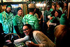 Friends and family pack the McDonald house, Lansdale for the 10th Annual Lansdale Pub Crawl March 18, 2017.  (Bob Raines--Digital First Media)