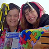 Sarah Uricchi and Jenni Kelly of Crafters For Life man a booth at the Pennridge Celtic Fest at the Sellersville Fire Company Picnic Grove Saturday, March 18.  Debby High — For Digital First Media