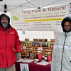 Nick Perna of Truly Pure & Natural's booth and his daughter, Jadyn Grace, man a booth at the Pennridge Celtic Fest at the Sellersville Fire Company Picnic Grove Saturday, March 18.  Debby High — For Digital First Media