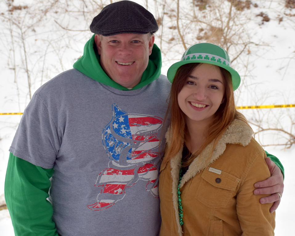 . Joe Loughran and Ruth Roland of Action Karate, Telford, attend the Pennridge Celtic Fest at the Sellersville Fire Company Picnic Grove Saturday, March 18.  Debby High � For Digital First Media