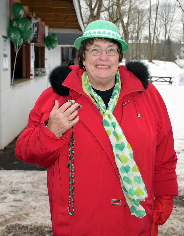 . Pennridge Chamber of Commerce Executive Director Betty Graver attends the Pennridge Celtic Fest at the Sellersville Fire Company Picnic Grove Saturday, March 18.  Debby High � For Digital First Media