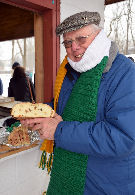 . Toni Bauer wins the Irish soda bread contest at Pennridge Celtic Fest.  Debby High � For Digital First Media