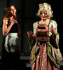"Madame de la Grande Bouche (Annaliese Pfeiffer), right, and Babette (Katie Brady-Gold) their magical imprisonment will soon be over and they can be""Human Again."" April 5, 2017.  (Bob Raines / Digital First Media)"