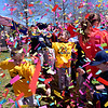 (Bob Raines--Digital First Media)___<br /> Players are showered with confetti as the finale of the Hatfield-Towamencin Opening Day April 8, 2017.