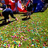 (Bob Raines--Digital First Media)___<br /> Confetti covers the infield after the Hatfield-Towamencin Opening Day April 8, 2017.