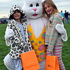 The Easter Bunny greets youngsters at Faith at Sellersville's annual Easter Egg-Splosion Saturday, April 15.  Debby High — Digital First Media