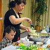 Families enjoy the annual free community Easter dinner at Grace Bible Church in Souderton Saturday, April 15.  Debby High — For Digital First Media