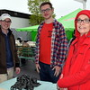 Perkasie Councilman Aaron Clark, special event staff member Kevin McFadden and Linda Reid, of the Perkasie Parks and Recreation Department, attend the Perkaise popup park.  Debby High — For Digital First Media
