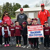 Souderton Area Baseball League holds its opening day ceremony at Souderton Area High School Saturday, April 22. Debby High — For Digital First Media