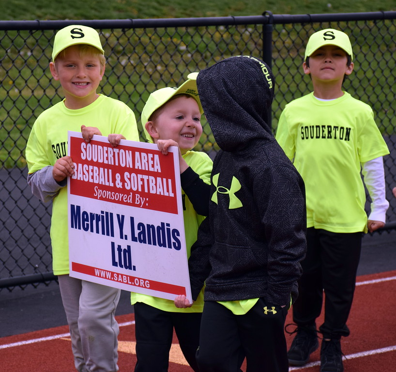 . Souderton Area Baseball League holds its opening day ceremony at Souderton Area High School Saturday, April 22. Debby High � For Digital First Media