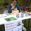 Melinda Goodwin, president of the Hatboro Residents Association, represents the association at the Jarrett Nature Center's 15th anniversary and Earth Day celebration April 22.  Christine Wolkin — For Digital First Media
