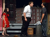 Kevin Rosario (Steven Rimdzius), center, vents  his anger at Benny (Preston Hill) for keeping his daughter, Nina (Jayna Lanshe), out all night.  (Bob Raines/Digital First Media)