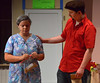 Usnavi (Jeffrey Pfeiffer) asks Abuela Claudia (Madison Spray) if she feels all right, not yet knowing she holds the winning lottery ticket and that she is puzzling over what would be the right thing to do with the money.  (Bob Raines/Digital First Media)