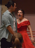 Nina (Jayna Lanshe) and Benny (Preston Hill) argue after the dance, but affection eventually replaces rancor and they spend the night together.  (Bob Raines/Digital First Media)