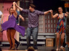 Usnavi (Jeffrey Pfeiffer), a bit befuddled by drink, finds himself dancing with both his date, Vanessa (Mary Swingle), left, and Yolanda (Lauren Taylor), a girl he met at the club.  (Bob Raines/Digital First Media)