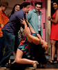 Usnavi (Jeffrey Pfeiffer) dances with Yolanda (Lauren Taylor), a girl he met when he and his friends went to the dance club.  (Bob Raines/Digital First Media)