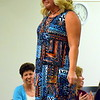 Alison Brooks hits the runway during the fashion show at Sister U's Best Foot Forward event at the Upper Bucks campus of Bucks County Community College Saturday, April 29.  Debby High — For Digital First Media