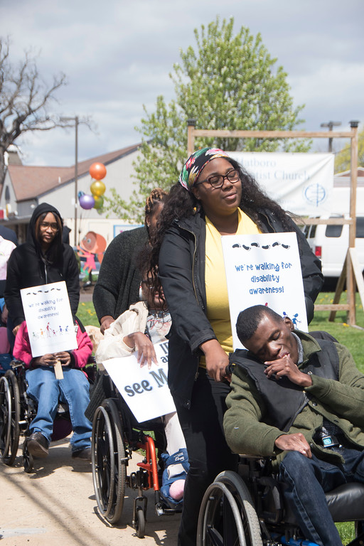 . State Rep. Thomas Murt, R-152, hosts a walk to raise awareness about disabilities at Hatboro Baptist Church in Hatboro April 29. Christine Wolkin � For Digital First Media