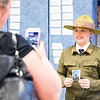 """Camille Merrigan, dressed up as Girl Scouts founder Juliette Gordon-Low, poses for a photograph at the Erdenheim Elementary School """"wax museum"""" May 5.  Rachel Wisniewski — For Digital First Media"""