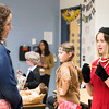Grace Duncheskie, right, describes the life and times of first lady Jackie Kennedy Onassis in Mrs. Arhontoulis's class.  Rachel Wisniewski — For Digital First Media