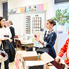 """While Anh Nguyen, right, waits for someone to press """"play"""" on his George Washington speech, his classmate, Talor Horsepian, performs as American Red Cross founder Clara Barton for a set of listening parents.  Rachel Wisniewski — For Digital First Media"""