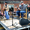 Jeff Lohan and his band play in front of Round Guys Brewing Company during Lansdale's First Friday May 5, 2017.  (Bob Raines/Digital First Media)