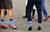 Walkers wait around for the start of the Walk A Mile In Her Shoes event benefiting Laurel House at Heebner Park, Worcester May 6, 2017.  (Bob Raines/Digital First Media)