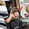 Rachel Goodine, 19, gets her hair highlighted by Rosemarie Carlettini at the Children's Hospital of Philadelphia annual Day of Beauty for craniofacial program patients.  Rachel Wisniewski — For Digital First Media