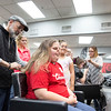 "Bryttani Tore, 18, gets her hair highlighted by Bruce Boimel while her mother and sister stand beside her. Boimel has been doing Bryttani's hair for ""at least five years,"" a service she drove all the way from Delaware to receive.  Rachel Wisniewski — For Digital First Media"