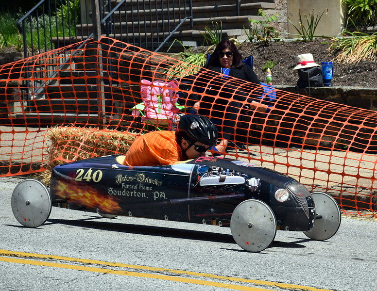 Indian Valley Soap Box Derby was held on Main Street Souderton on Saturday, June 3, 2017. Debby High for Digital First Media  Debby High — For Digital First Media