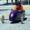 Allyson Gilton races in the Indian Valley Soap Box Derby in Souderton Saturday, June 3.  Debby High — For Digital First Media