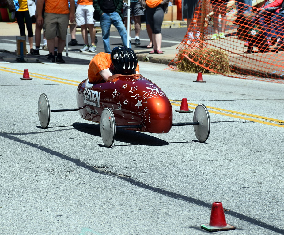 . Seth Zeller was one of the 27 raisers participating in Indian Valley Soap Box Derby on Saturday, June 3, 3017. Debby High for Digital First Media  Debby High � For Digital First Media