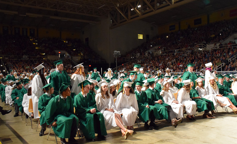 Pennridge High School holds its commencement ceremony for the Class of 2018 at Lehigh University's Stabler Arena Tuesday, June 12. Debby High - For Digital First Media
