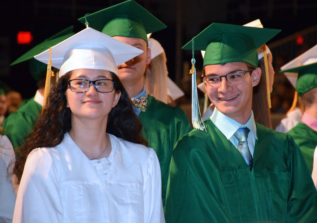 . Pennridge High School holds its commencement ceremony for the Class of 2018 at Lehigh University�s Stabler Arena Tuesday, June 12. Debby High - For Digital First Media