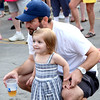 Todd Wampler and his daughter, Cassidy, of Ambler, enjoy the music during Ambler's Arts & Music Festival June 16.  Christine Wolkin — For Digital First Media