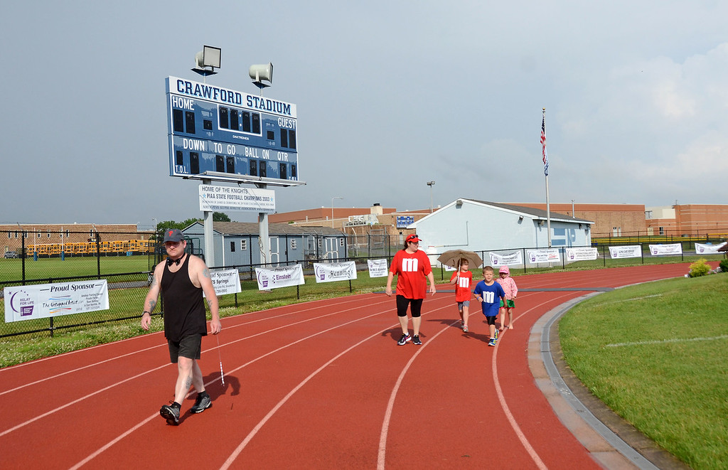 . Despite the rain, teams from all across the community came to support the North Penn Relay for Life at the high school\'s Crawford Stadium Saturday, June 17.  Christine Wolkin - For Digital First Media