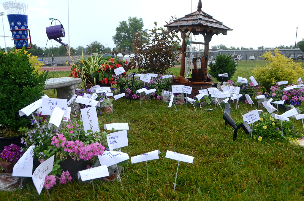 . Loved ones who have passed away from cancer are memorialized during the North Penn Relay for Life at the high school\'s Crawford Stadium Saturday, June 17.  Christine Wolkin - For Digital First Media
