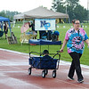 Ashley Brower, of Souderton, pulls her son, Xander Browe,r along on the track during the North Penn Relay for Life at the high school's Crawford Stadium Saturday, June 17.  Christine Wolkin - For Digital First Media