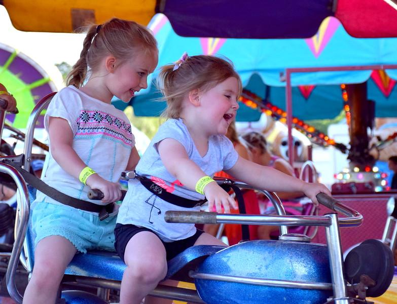 Attendees enjoy the Penn Valley Community Fair in Telford Thursday, June 15. Debby High - For Digital First Media