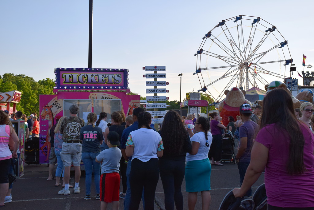 . Attendees enjoy the Penn Valley Community Fair in Telford Thursday, June 15. Debby High - For Digital First Media