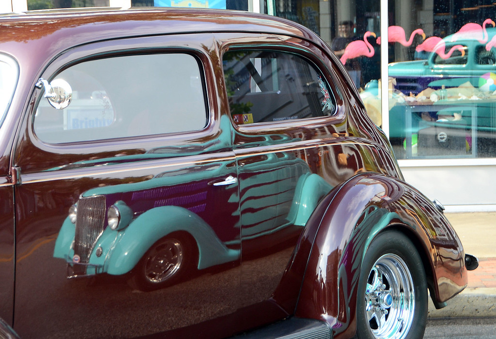 . Vintage and performance automobiles attract hundreds of attendees during Lansdale\'s Under the Lights Car Show Saturday, June 16.  Christine Wolkin - For Digital First Media