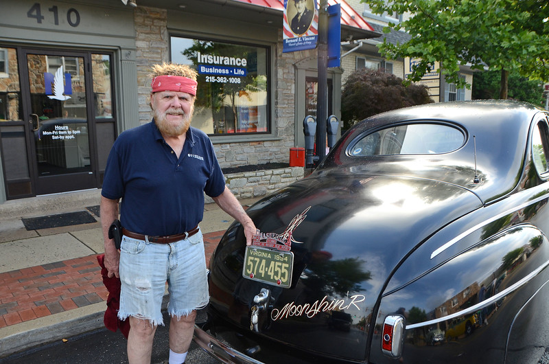 Don Stalker, of Quakertown, stands with his Monnshine Runner during Lansdale's Under the Lights Car Show Saturday, June 16.  Christine Wolkin - For Digital First Media