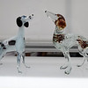 Some dog figurines are on display at the Mananyunk Arts Festival.  Rick Cawley — For Digital First Media